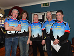 Slane Spinners Cycle Club members Pat Maguire Secretary, Cillian Galligan P.R.O., Kevin Carolan Treasurer, Norman Barry Assistant P.R.O. and Barry Harding Chairperson pictured at their launch in The Boyne Valley Inn Slane. Photo:Colin Bell/pressphotos.ie