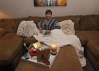 NWA Democrat-Gazette/FLIP PUTTHOFF<br /> Jayshica Amargos in her      Jan. 23, 2016      favorite space, her living room