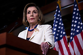 Speaker of the United States House of Representatives Nancy Pelosi (Democrat of California) speaks during a press conference at the United States Capitol in Washington D.C., U.S., on Thursday, December 5, 2019.  Earlier this morning, she announced the United States House of Representatives would begin drafting articles of impeachment against United States President Donald J. Trump.