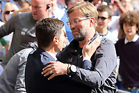 Liverpool manager Jurgen Klopp and Tottenham Hotspur manager Mauricio Pochettino during Tottenham Hotspur vs Liverpool, Premier League Football at Wembley Stadium on 15th September 2018