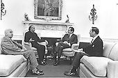 Washington, D.C. - December 16, 1971 -- United States President Richard M. Nixon meets President Zulfikar Ali Bhutto of Pakistan in the Oval Office at the White House in Washington, D.C. on December 16, 1971.  Pictured from left to right: unidentified; President Ali Bhutto; President Nixon; Deputy National Security Advisor Brigadier General Alexander M. Haig, Jr., United States Army..Credit: White House via CNP