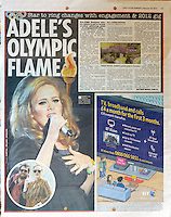 Daily Star Sunday<br /> Adele by MAR<br /> 41253<br /> tearsheet
