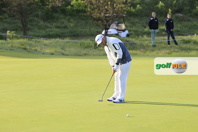 Damien McGrane (IRL) on the 2nd green during Round 1 of the 2015 KLM Open at the Kennemer Golf &amp; Country Club in The Netherlands on 10/09/15.<br /> Picture: Thos Caffrey | Golffile