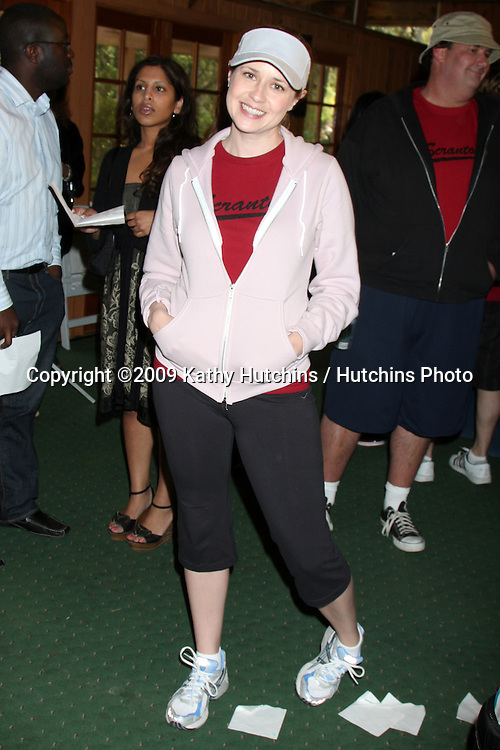 """Jenna Fischer  100th Episode of """"The Office""""  On Location at Calamigos Ranch in Malibu , CA on April 14, 2009.©2009 Kathy Hutchins / Hutchins Photo....                ."""