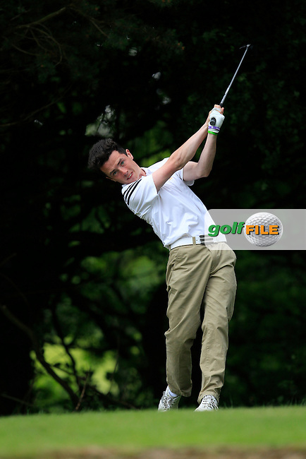 Rory Williamson (Holywood) on the 2nd tee during Round 3 of the Irish Boys Amateur Open Championship at Tuam Golf Club on Thursday 25th June 2015.<br /> Picture:  Thos Caffrey / www.golffile.ie