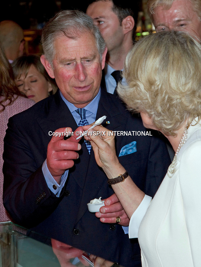 """PRINCE CHARLES AND CAMILLA, DUCHESS OF CORNWALL.The Prince of Wales, and The Duchess of Cornwall begin a three day official visit to Spain..visit to Plaza Mayor, and nearby San Miguel Market_Madrid_30/11/2011..Mandatory Credit Photo: ©Dias/NEWSPIX INTERNATIONAL..**ALL FEES PAYABLE TO: """"NEWSPIX INTERNATIONAL""""**..IMMEDIATE CONFIRMATION OF USAGE REQUIRED:.Newspix International, 31 Chinnery Hill, Bishop's Stortford, ENGLAND CM23 3PS.Tel:+441279 324672  ; Fax: +441279656877.Mobile:  07775681153.e-mail: info@newspixinternational.co.uk."""" NO UK USE UNTIL 28TH MARCH 2011 """""""