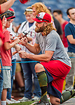 15 August 2017: Washington Nationals outfielder Jayson Werth signs autographs prior to a game against the Los Angeles Angels at Nationals Park in Washington, DC. The Nationals defeated the Angels 3-1 in the first game of their 2-game series. Mandatory Credit: Ed Wolfstein Photo *** RAW (NEF) Image File Available ***