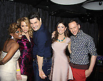 Cast - The Gossip Table starring hosts Delaina Dixon (Daily Gals Diva), Marianne Garvey, Rob Shuter (Days of Our Lives), Chloe Melas (2nd R) and Noah Levy at launch party to celebrate our new VH1 morning show beginning June 3 - party was on May 30, 2013 at Catch Roof, New York City, New York. (Photo by Sue Coflin/Max Photos)