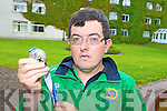 Killarney golfer Michael O'Leary celebrates  after winning a Silver Medal at the Special Olympics in Greece at his home coming in the Malton Hotel on Saturday night