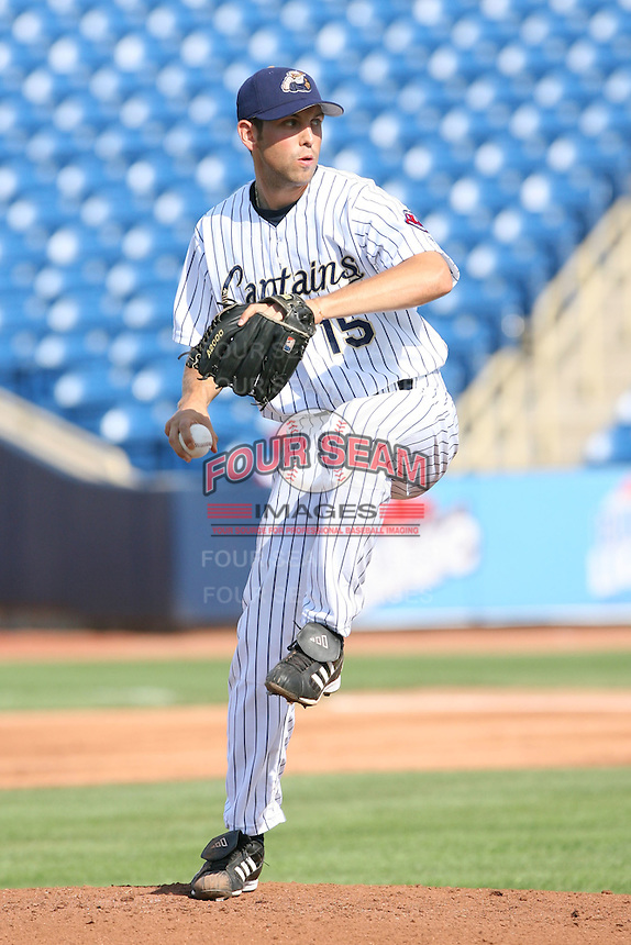 June 11th 2008:  Pitcher Kyle Landis of the Lake County Captains, Class-A affiliate of the Cleveland Indians, during a game at Classic Park in Eastlake,OH.  Photo by:  Mike Janes/Four Seam Images