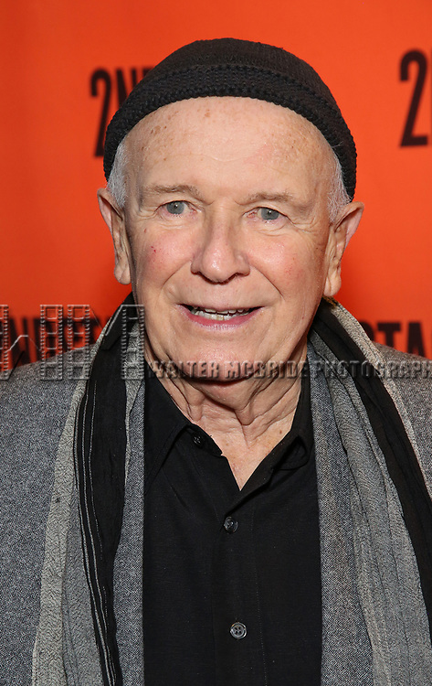 Terrence McNally attends the Off-Broadway Opening Night performance of the Second Stage Production on 'Torch Song'  on October 19, 2017 at Tony Kiser Theater in New York City.