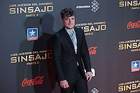US actor Josh Hutcherson poses for the photographers during the photocall of `The Hunger Games: Mockingjay Part 2´ movie presentation in Madrid, Spain. November 10, 2015. (ALTERPHOTOS/Victor Blanco)