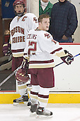 Peter Harrold, Chris Collins - The Boston College Eagles and University of New Hampshire earned a 3-3 tie on Thursday, March 2, 2006, on Senior Night at Kelley Rink at Conte Forum in Chestnut Hill, MA.  Boston College honored its three seniors, captain Peter Harrold and alternate captains Chris Collins and Stephen Gionta, before the game.