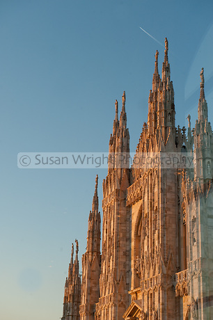 Il Duomo from Museo Novecento, Milan View of Il Duomo from Museo 900, Milano, Italy