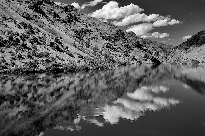 Reflection in Hell's Canyon Dam. Hell's Canyon National Recreation areas.Oregon ,Idaho