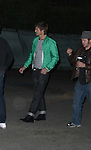 AbilityFilms@yahoo.com 805-427-3519.www.AbilityFilms.com.3-21-08 Exclusive Ashton Kutcher walking down HOllywood blvd at 4am with Rumer Willis after filming a scene for his new movie called Spread.