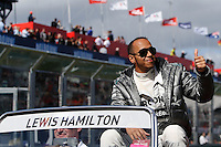 MELBOURNE, 17 MARCH - Lewis Hamilton in the drivers' parade ahead of the 2013 Formula One Rolex Australian Grand Prix at the Albert Park Circuit in Melbourne, Australia. Photo Sydney Low/syd-low.com
