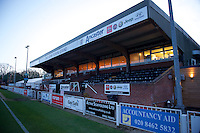 A general view of the ground before the Vanarama National League match between Bromley and Grimsby Town at Hayes Lane, Bromley, England on 9 February 2016. Photo by Alan  Stanford.