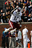 Texas A&M tight end Martellus Bennett celebrates his six yard touchdown pass during the second quarter at Memorial Stadium in Columbia, Missouri on November 10, 2007. The Tigers won 40-26.