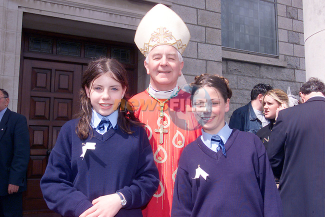 Leanne Byrne and Ronda Thornton with Bishop Clifford after confirmation in Our lady of Lourdes church..Photo Fran Caffrey/Newsfile.ie..This picture has been sent to you by:.Newsfile Ltd,.3 The View,.Millmount Abbey,.Drogheda,.Co Meath..Ireland..Tel: +353-41-9871240.Fax: +353-41-9871260.GSM: +353-86-2500958.ISDN: +353-41-9871010.IP: 193.120.102.198.www.newsfile.ie..email: pictures@newsfile.ie..This picture has been sent by Fran Caffrey.francaffrey@newsfile.ie