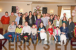 PINK BABY: Proud parents Noelle and Ian O'Shea, Shanakill (seated 5th & 6th left) of little Ciara who was Christening in St John's Church, Tralee and celebrated afterwards with family and friends at the Strand Road clubhouse on Sunday.