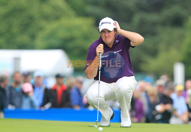Shane Lowry lines up his putt on the 16th green during Day 2 of the 3 Irish Open at the Killarney Golf & Fishing Club, 30th July 2010..(Picture Eoin Clarke/www.golffile.ie)