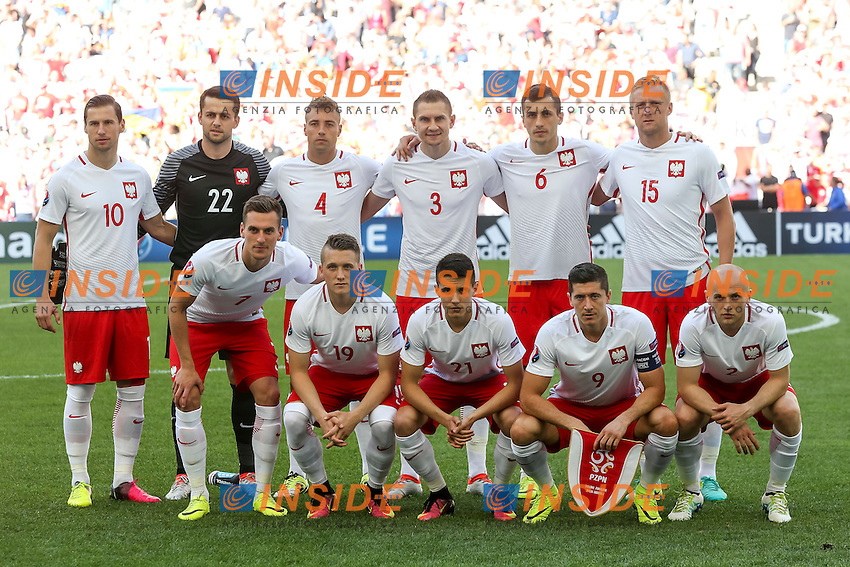 Poland line up Formazione Polonia <br /> Marseille 21-06-2016 Stade Velodrome Football Euro2016 Ukraine - Poland  / Ucraina - Polonia Group Stage Group C. Foto Daniel Chesterton / Panoramic / Insidefoto