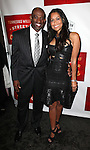 Deion Sanders and Tracey Edmonds.attending the Broadway Opening Night Performance of 'A Streetcar Named Desire' at the Broadhurst Theatre on 4/22/2012 in New York City.
