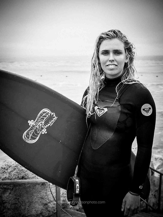 Hannah, Blond surfer girl, Aptos, CA