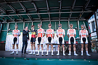 Team Corendon Circus with Belgian Champion Tim Merlier (BEL/Corendon Circus) at the pre race team presentation<br /> <br /> Antwerp Port Epic 2019 <br /> One Day Race: Antwerp > Antwerp 187km<br /> <br /> ©kramon