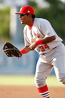 July 13, 2009:  First Baseman Francisco Rivera of the Palm Beach Cardinals during a game at Hammond Stadium in Ft. Myers, FL.  Palm Beach is the Florida State League High-A affiliate of the St. Louis Cardinals.  Photo By Mike Janes/Four Seam Images