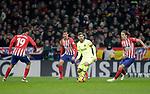 (L to R) Club Atletico de Madrid's Diego Costa, Stefan Savic, Filipe Luis and Futbol Club Barcelona's Leo Messi  during La Liga match. November 24,2018. (ALTERPHOTOS/Alconada)