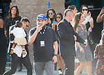 2015-05-17 Las Vegas Billboard Red Carpet arrovals out side MGM Grand Gardens , Singer Chris Brown and daughter Royalty