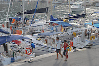 - yachts moored in the tourist harbor of Marciana Marina, Elba island....- yacht ormeggiati nel porto turistico di Marciana Marina, isola d'Elba