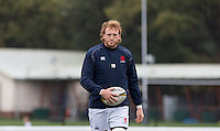 Josh Thomas Brown of London Scottish during the Greene King IPA Championship match between London Scottish Football Club and Jersey at Richmond Athletic Ground, Richmond, United Kingdom on 7 November 2015. Photo by Andy Rowland.