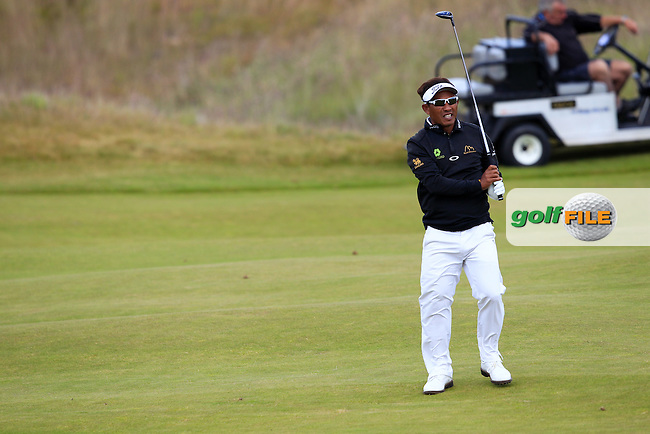 Thongchai Jaidee (THA) during the first round of the Aberdeen Asset Management Scottish Open 2016, Castle Stuart  Golf links, Inverness, Scotland. 07/07/2016.<br /> Picture Fran Caffrey / Golffile.ie<br /> <br /> All photo usage must carry mandatory copyright credit (&copy; Golffile | Fran Caffrey)