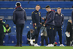 Aston Villa Assistant Head coach John Terry (2nd L) talks with John McGinn (C) on the pitch ahead of the Premier League match at Stamford Bridge, London. Picture date: 4th December 2019. Picture credit should read: Paul Terry/Sportimage