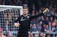 Goalkeeper Adam Smith of Northampton Town during the Sky Bet League 2 match between Wycombe Wanderers and Northampton Town at Adams Park, High Wycombe, England on 3 October 2015. Photo by Andy Rowland.