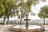 PORTUGAL, Lisbon, View of Lisbon from PraÁa Alegria and a water fountain