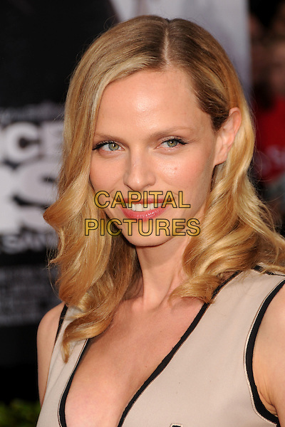 "RACHEL ROBERTS.""Prince Of Persia: The Sands Of Time"" Los Angeles Premiere held at Grauman's Chinese Theatre, Hollywood, California, USA..May 17th, 2010.headshot portrait black trim beige.CAP/ADM/BP.©Byron Purvis/AdMedia/Capital Pictures."