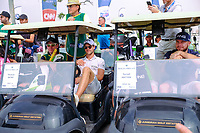 Thomas Detry (BEL) and Tyrrell Hatton (ENG) on the starting grid at the preview to the DP World Tour Championship, Jumeirah Golf Estates, Dubai, United Arab Emirates. 19/11/2019<br /> Picture: Golffile | Fran Caffrey<br /> <br /> <br /> All photo usage must carry mandatory copyright credit (© Golffile | Fran Caffrey)