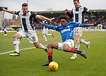 03.11.2018: St Mirren v Rangers: Ovie Ejaria gets to the byline and cuts the ball inside Ian McShane and Paul McGinn