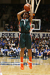 24 February 2012: Miami's Riquna Williams. The Duke University Blue Devils defeated the University of Miami Hurricanes 74-64 at Cameron Indoor Stadium in Durham, North Carolina in an NCAA Division I Women's basketball game.