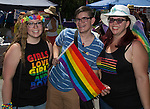 Cece, Aiden and Kay attend the Northern Nevada Pride Parade and Festival in Reno on Saturday, July 23, 2016.