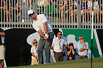 Paul Casey chips onto the 18th green during the Final Day of the Dubai World Championship, Earth Course, Jumeirah Golf Estates, Dubai, 28th November 2010..(Picture Eoin Clarke/www.golffile.ie)