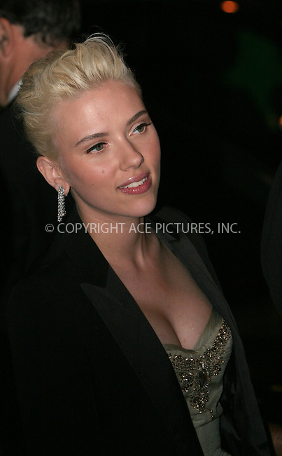 WWW.ACEPIXS.COM . . . . .  ....May 7 2007, New York City....SCARLETT JOHANSSON....Costume Institute at the Metropolitain Museum Gala 2007, exits.....Please byline: NANCY RIVERA- ACE PICTURES.... *** ***..Ace Pictures, Inc:  ..tel: (646) 769 0430..e-mail: info@acepixs.com..web: http://www.acepixs.com