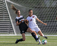 Allston, Massachusetts - August 25, 2017: NCAA Division I. Harvard University (white) defeated Providence College (black), 1-0, at Ohiri Field.