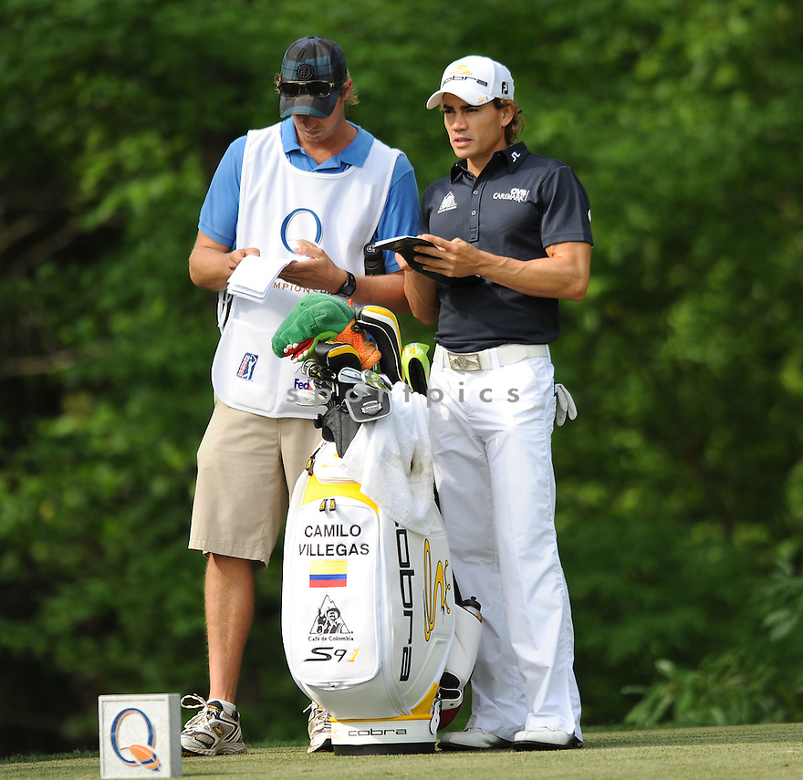 CAMILO VILLEGAS,during a practice round of the Quail Hollow Championship, on April 29, 2009 in Charlotte, NC.