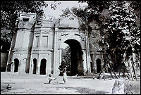 BNPS.co.uk (01202 558833)<br /> Pic: CanterburyAuctionGalleries/BNPS<br /> <br /> Gateway to the Sikandar Bagh, Lucknow.<br /> <br /> A Scottish photographer's stunning collection of photos of India and Afghanistan in the 1880s have been unearthed after 130 years.<br /> <br /> G.W Lawrie set up a studio in Lucknow, northern India in the 1880s and took captivating black and white photos of his new surroundings.<br /> <br /> Included in the collection of 40 photos are views of lavish temples including the King of Oudh's palace in Lucknow, opulent buildings and beautiful scenery.<br /> <br /> However, Lawrie was also interested in the native population and took photos of them going about their everyday lives.