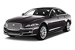 2016 Jaguar XJ Premium Luxury 4 Door Sedan Angular Front stock photos of front three quarter view